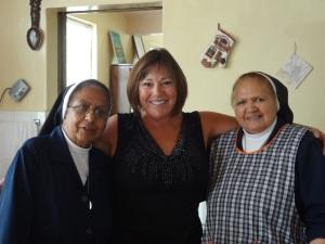 Sor Theresa, Lynn and Sor Marta