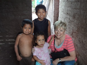 Barbara with her new sponsored child.